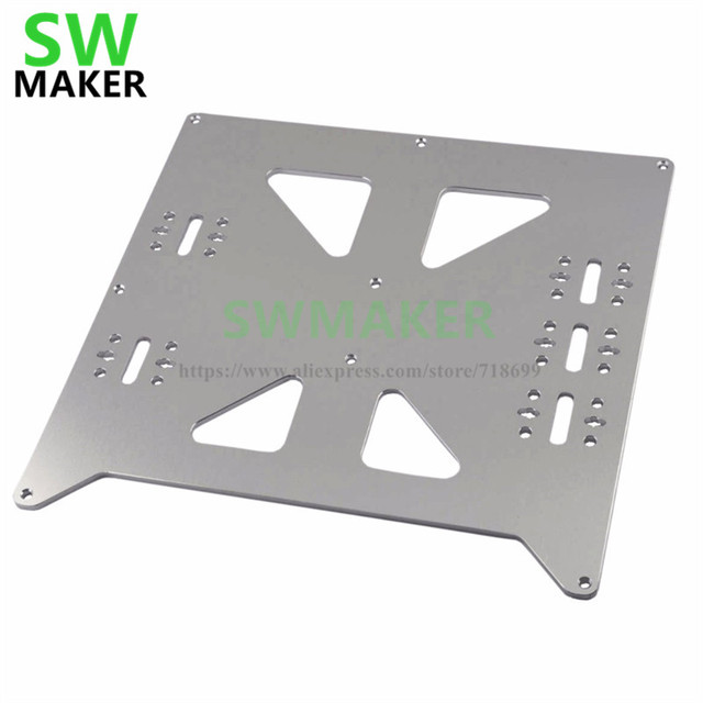 SWMAKER Aluminum Y Carriage Anodized Plate Upgrade V2 for Prusa i3 RepRap DIY 3D Printer parts accessories