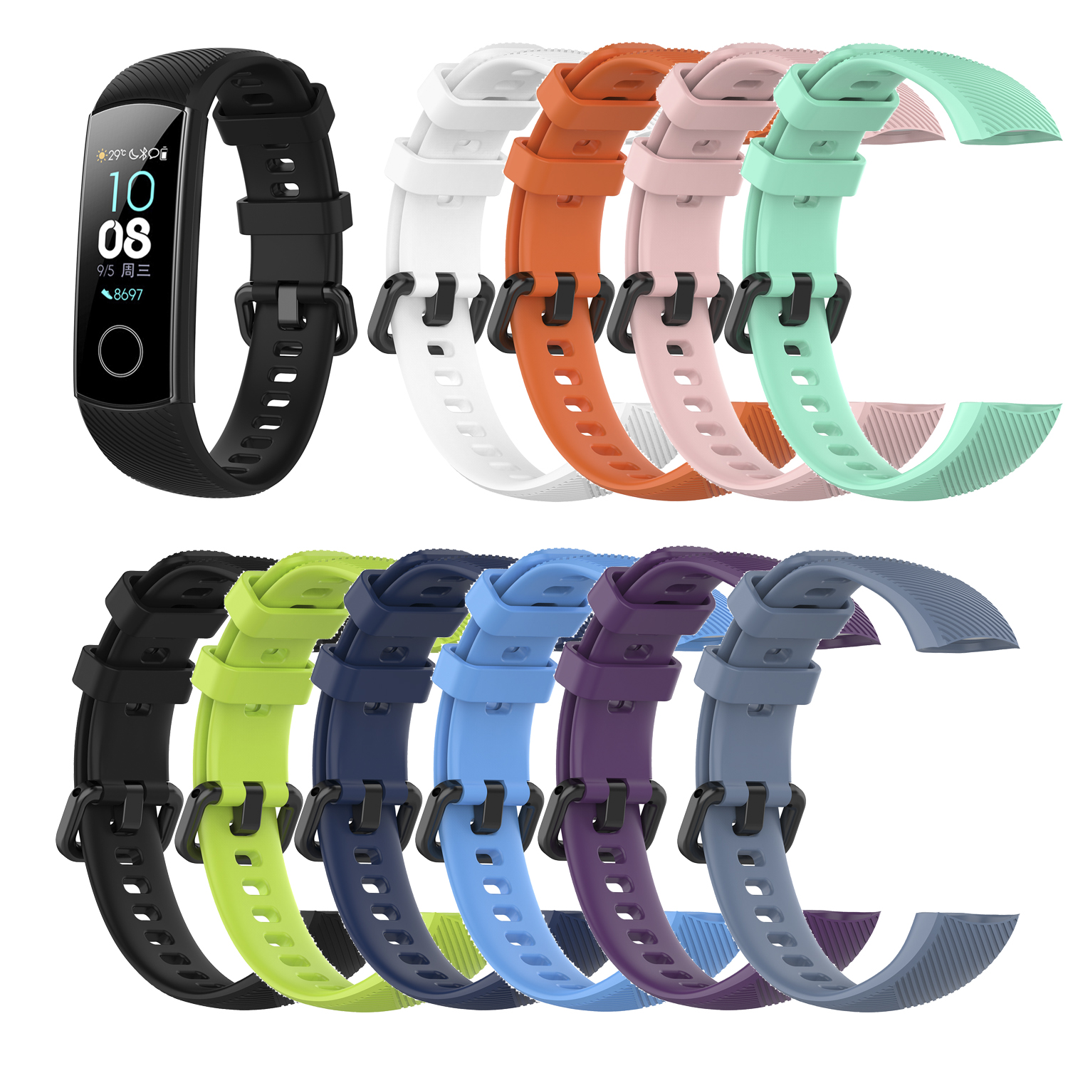 Wrist-Strap Watchband Smart-Tracker Sport-Fitness-Watch Huawei 5-Bracelet Belt-Accessories