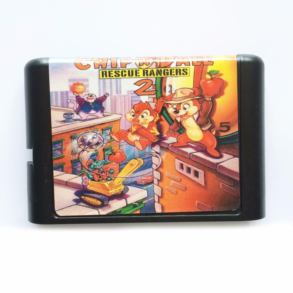ChipN Dale 2 16 bit MD Game Card For Sega Mega Drive For SEGA Genesis