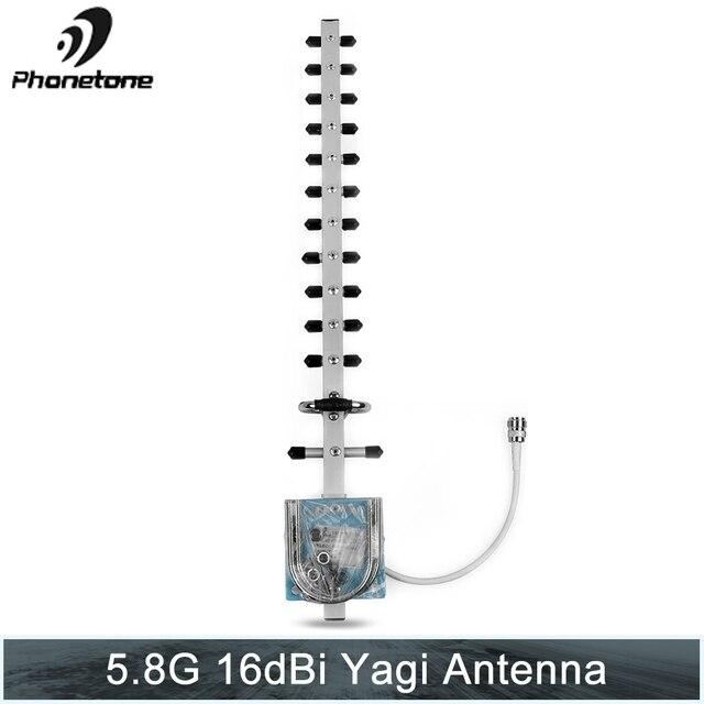 هوائي Yagi خارجي 5.8 جيجا هرتز 16dBi هوائي اتجاهي خارجي مع موصل N Female لتقوية الإشارة/جهاز توجيه بطاقة PCI مودم