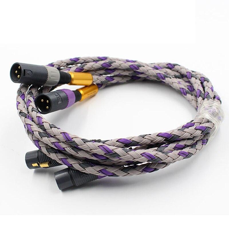 Hifi подписи S3 2 XLR сбалансированный соединительный кабель Hifi XLR кабель высокого качества 3 Pin 2 XLR кабель для мужчин 2 XLR для аудиокабеля с разъемом типа Мама