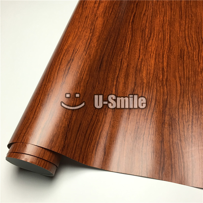 Autocollant de Film d'enveloppe de vinyle de décalcomanie de Grain en bois de palissandre pour l'intérieur de voiture de meubles de mur taille: 1.24X50 m/Roll (4ftX165ft)