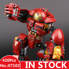 IN STOCK H HXY 07102 420pcs The Avengers 3 Super Heroes Batman Iron Man Hulk Lepin