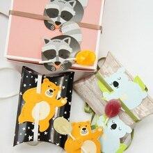 new 50pcs lollipop cover bear raccoon koala design children birthday wedding candy decorate holiday Christmas gift packaging