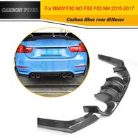 Автомобиль Стайлинг углеродного волокна заднего бампера для губ Диффузор для BMW F80 M3 и F82 M4 2014 2017