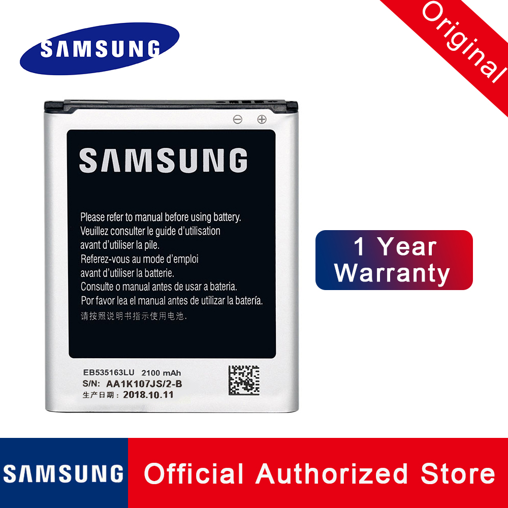Bateria de substituição eb535163lu original para samsung galaxy grand duos i9082 neo i9080 i879 i9118 i9060 i9128 genuíno batteria