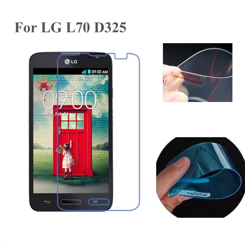 2PCS Tempered Nano Film HD For LG L70 SIM D325 Screen Protector For L70 D325 Explosion-Proof Protectove Film Screen Protector