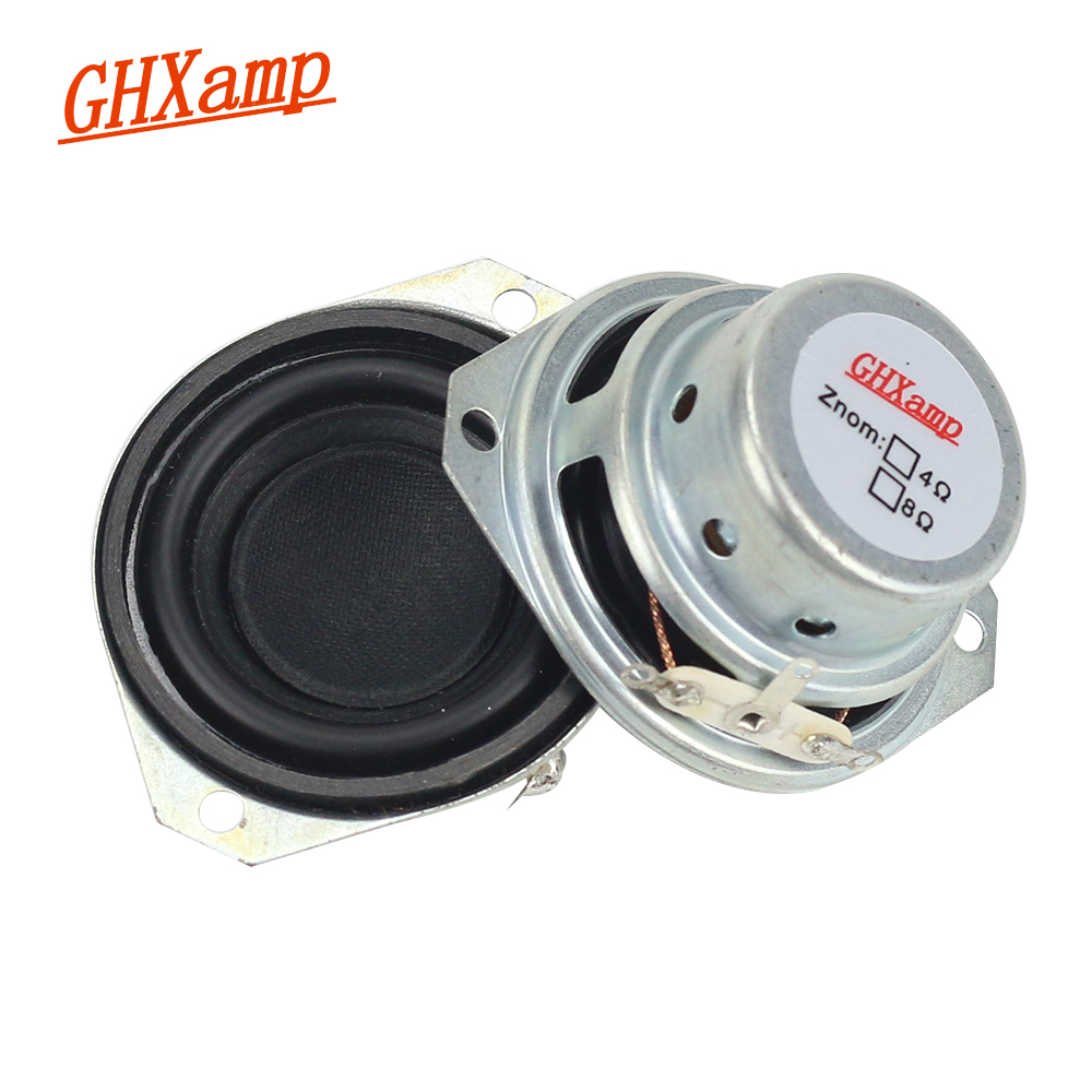GHXAMP 2PCS 1,5 tommer 8 ohm 10W Neodym Magnetic Full Range Speaker Stor Voice Coil PU til JL MINI Bluetooth Højttaler DIY