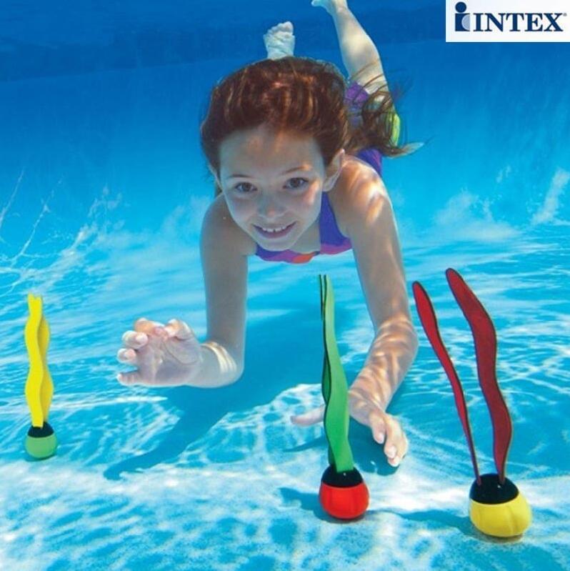 3pcs 1set INTEX 55503 ribbons diving ball diving seaweed swim swimming toy underwater buoy font b