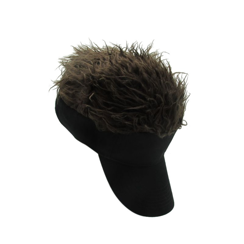 New Arrival Male Female Wig Funny Hair Loss Cool Gifts Men Cap Fake Flair Hair Sunshade Hats Apparel Accessories