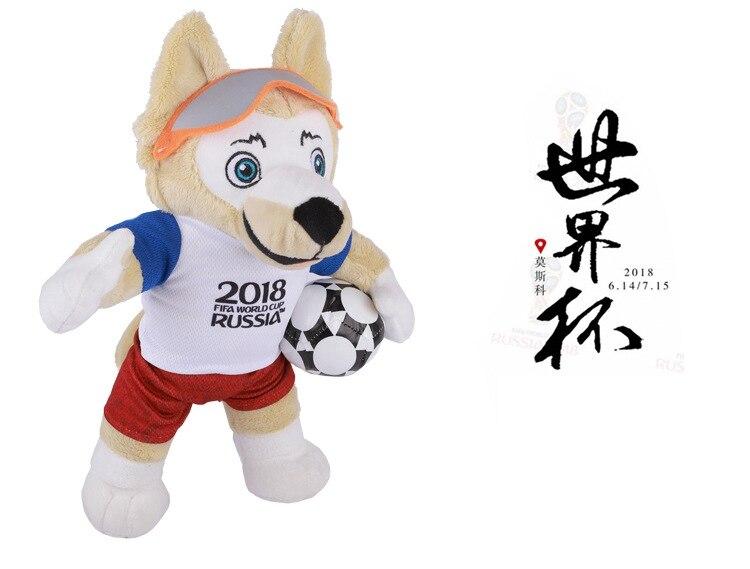 World Cup 2018 Souvenirs Stash Wolf Zabivaka Brand Designer 15/25/35cm Russia 2018 National Team Football Memorabilia Plush Toy