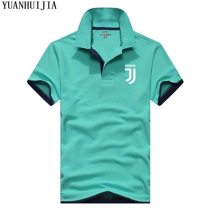 Juventus Camisa Dos Homens novos do Polo Para Homens Desiger Homens Polos  de Algodão camisa de Manga Curta roupas jerseys golftennis Plus Size XXXL 7631cf36d4f85