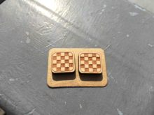 Net Laser Cut Supplies Tartan Earrings Solid Wood Laser Cute Plaid Stud Checker Jewelry Grid Handmade