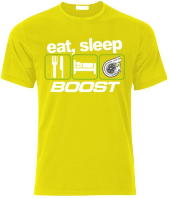 EAT SLEEP BOOST T-shirt EVO WRX STI VAG Turbo Drift Fan Gift size S-XXL ougubosi