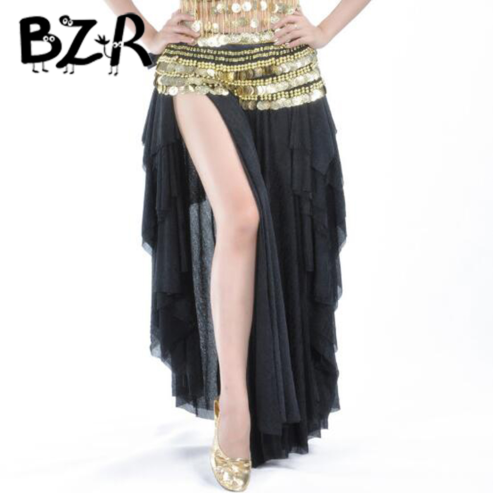 Bazzery New bellydancing skirts belly dance skirt costume training dress or performance without waist scarf