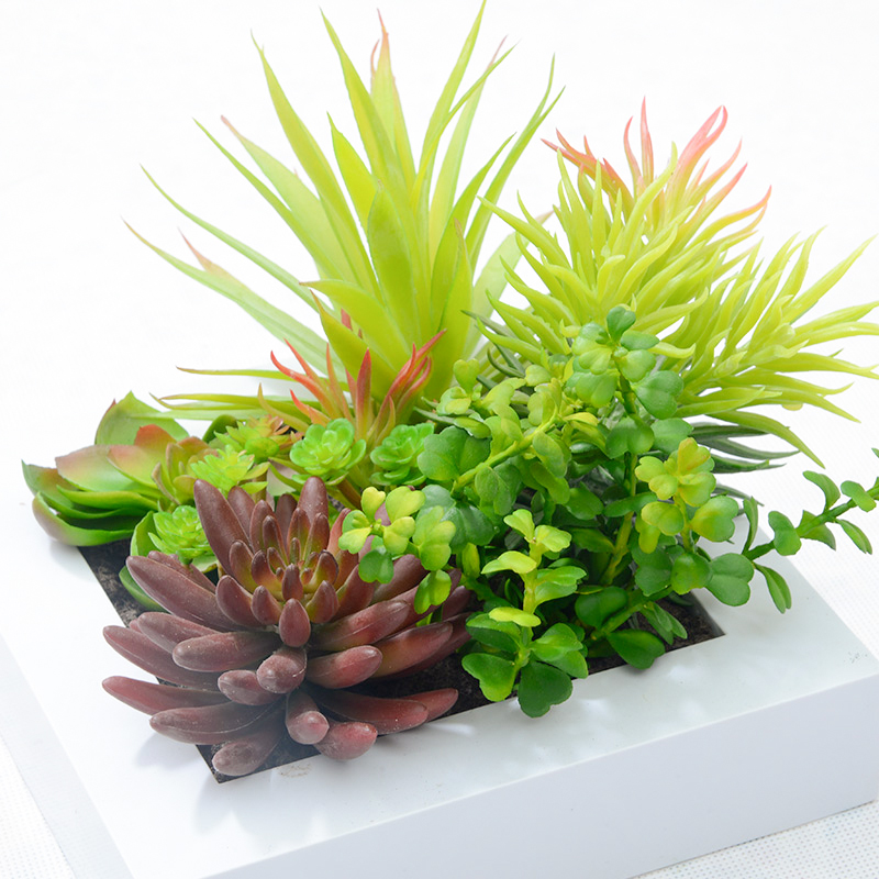 New Arrival 3D Artificial Flowers Succulent Plants Imitation for     New Arrival 3D Artificial Flowers Succulent Plants Imitation for Decoration  Wood Photo Wall Hanging Artificial Plants Home Decor in Artificial   Dried
