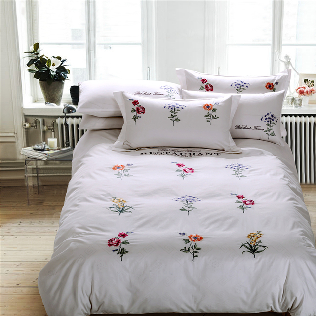 Buy luxury satin cotton embroidery for Luxury cotton comforter sets