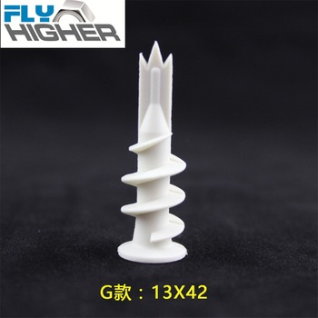 nylon Easy Anchor /Self-Drilling Drywall Anchor / Wall Driller   13x42  100pcs/box