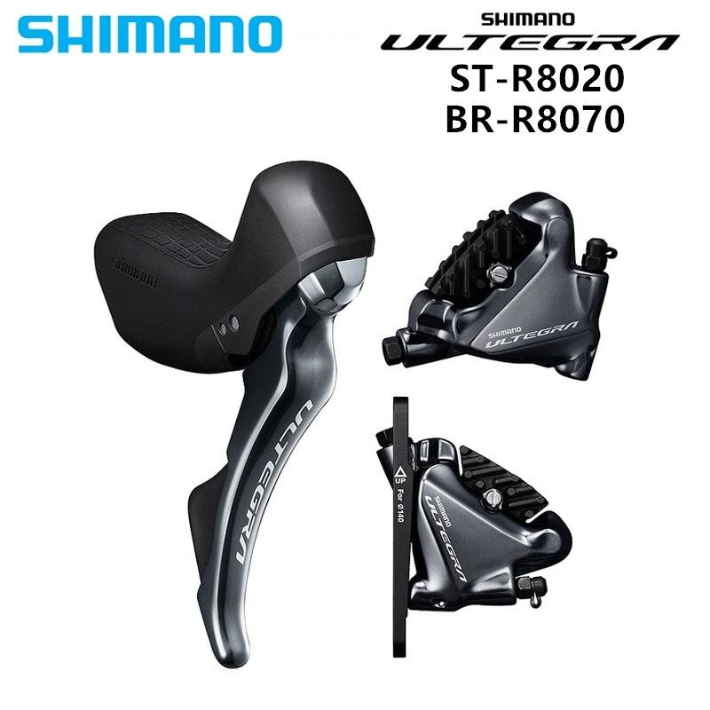 Shimano Ultegra ST R8020 Trigger Shifter BR R8070 STI Hydraulic Disc Brakes Flat Mount 2x11 speed