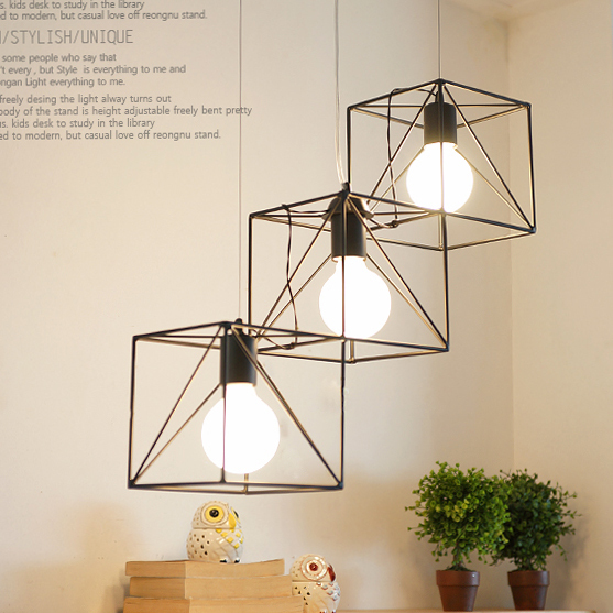 rectangular cage chandelier rustic specials simple iron cage chandelier lights rectangular led korean american restaurant light lamp store