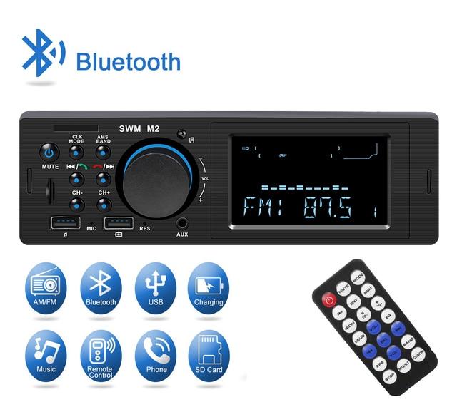 SWM M2 Dàn Âm Thanh Xe Hơi MP3 Nghe Nhạc FM Đài Phát Thanh Âm Nhạc Bluetooth 4.0 TF AUX Sạc 2 CỔNG USB sạc Trên Ô Tô cho iOS/Android Đầu Đơn Vị