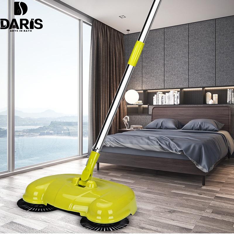 SDARISB Steel Sweeping Machine Magic Broom Dustpan Hand Push Type Sweeper Tools Household Cleaning Package Hand Sweeper Tools