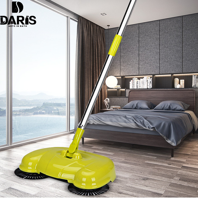 SDARISB Steel Sweeping Machine Magic Broom Dustpan Hand Push Type Sweeper Tools Household Cleaning Package Hand Sweeper Tools