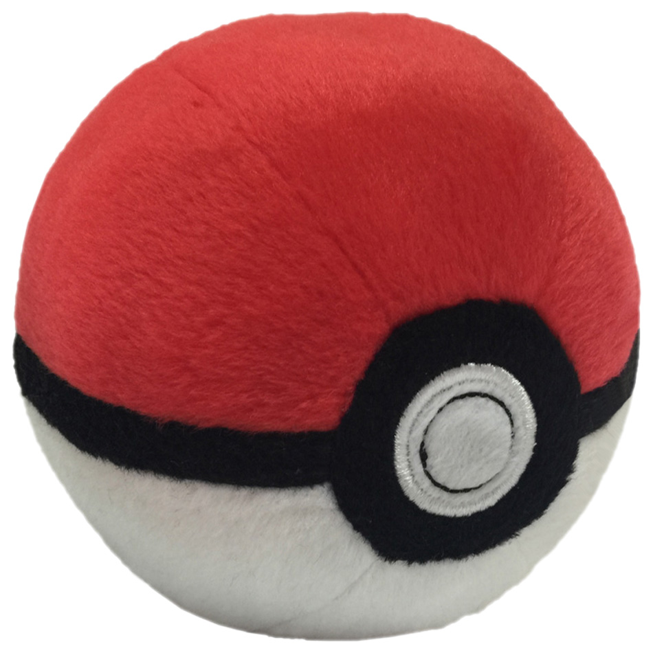 5 Style Lovely Poke Ball Plush Toys Doll Anime Red Blue Purple Ball Soft Stuffed Toy For Children Kid Gift Suitable For Men And Women Of All Ages In All Seasons