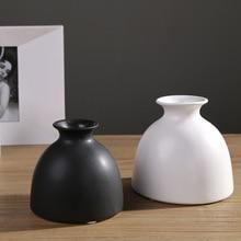 Nordic Style White&Black Glaze Ceramic Vases High Quality Wedding&Home Decoration Desktop Furnishings Flower Pot 36