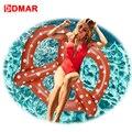 DMAR inflable Pretzel anillo de natación Clircle piscina flotador juguetes para niños adultos inflable colchón de fiesta de playa Flamingo