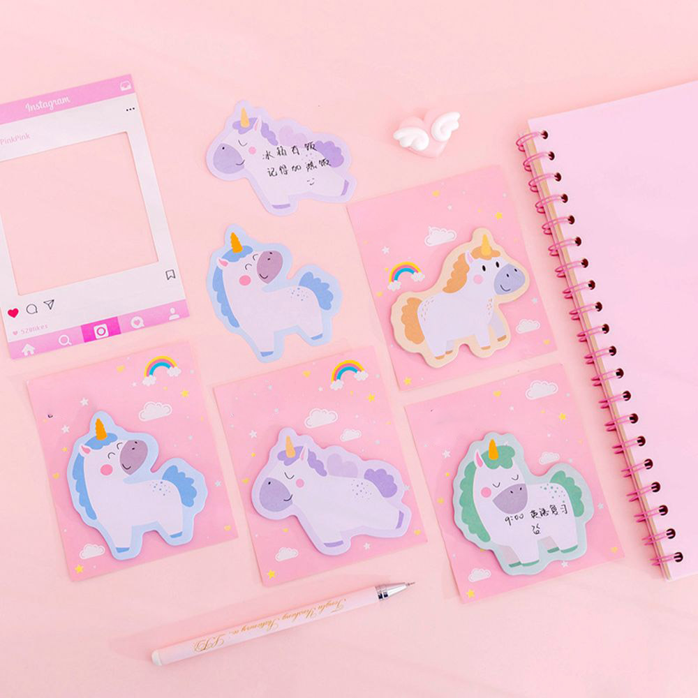 30 Sheets/Pcs Cute Unicorn Memo Pad Kawaii Stationery Sticky Notes Planner Sticker Stationery School Supplies