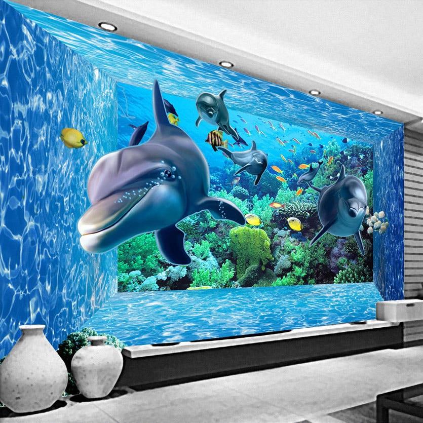 Custom 3D Photo Wallpaper Underwater World Stereoscopic Living Room Bedroom Decor Wallpapers Modern Painting Mural De Parede 3D