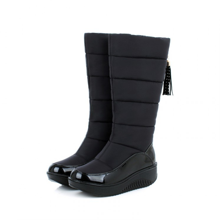 Women Snow Boots Winter Warm Platform Fur Fringe Shoes 18