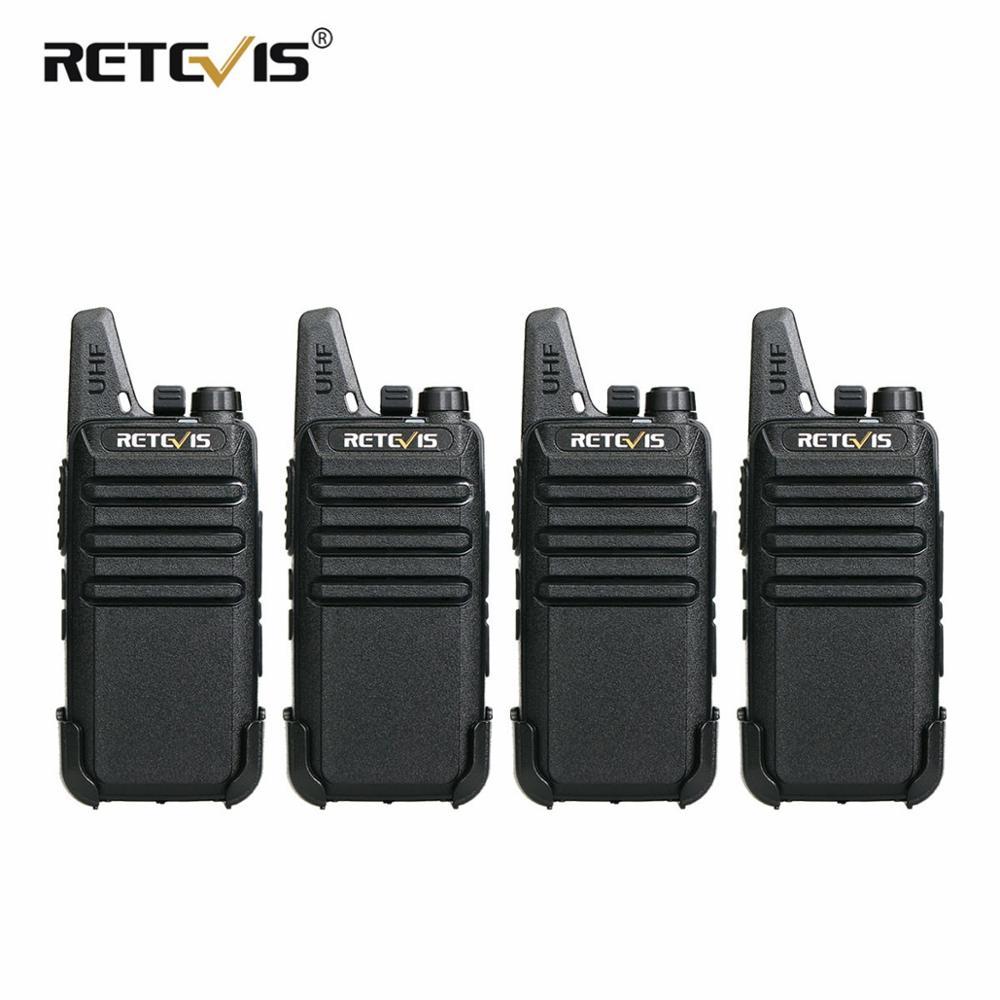 4 pièces RETEVIS RT622 RT22 Mini Talkie-walkie PMR Radio PMR446 VOX Rechargeable Bidirectionnelle Radio Talkie-walkie Récepteur