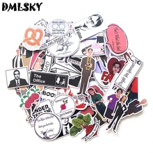 DMLSKY 46pcs The Office Album Sticker Waterproof Pvc Scrapbooking for Phone Luggage Laptop Guitar Decoration M3122 bandshop sticker i play the guitar