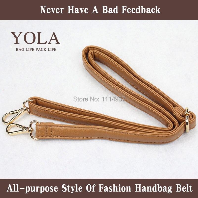 2016 PU leather belt male and female bag shoulder straps,brown color2.0cm