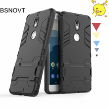For Nokia 7 Case Silicone + Plastic Kickstand Hard Phone Holder Anti-knock Cover Funda BSNOVT