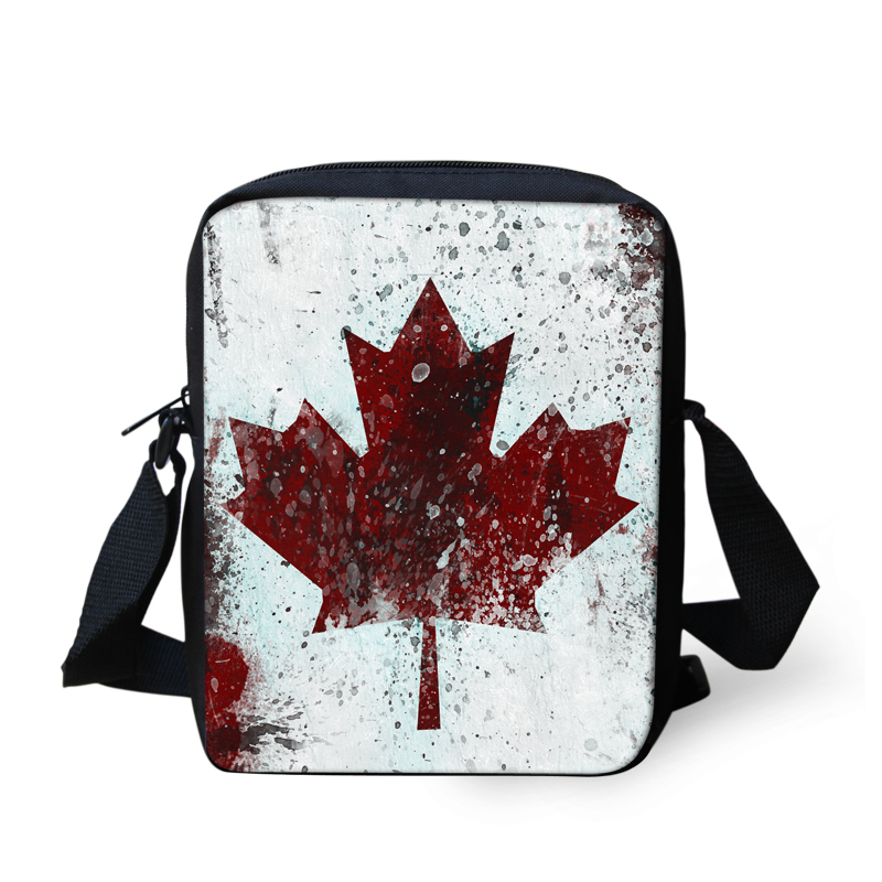 Multicolor Mujeres Niños Niñas Bolsas de Mensajero Estilo Bastante Maple Leaf Cr