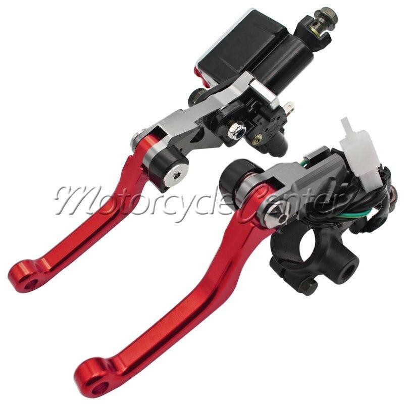 7/8 22mm Motorcycle Brake Master Cylinder Reservoir Lever For Honda CR 80R 85R 125R 250R SL230 XR650R XR 230 250 400 MOTARD Red mitsubishi 100% mds r v1 80 mds r v1 80
