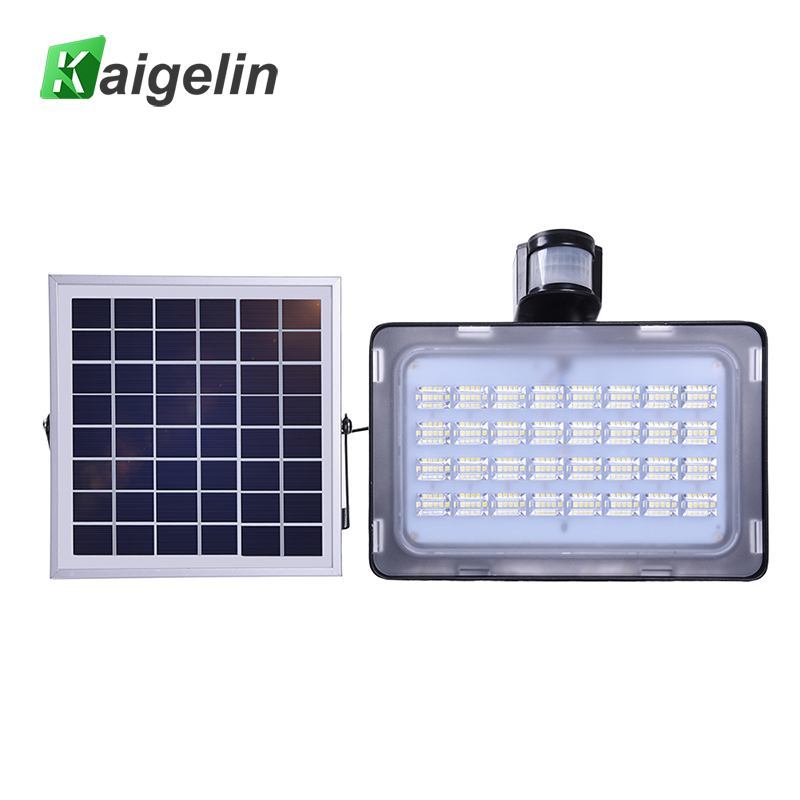 Moderne 10W / 20W / 30W / 50W Solar Power PIR bevegelsessensor Induksjonsføler LED Flood Light Solar Lamp Vanntett Solar LED Floodlight