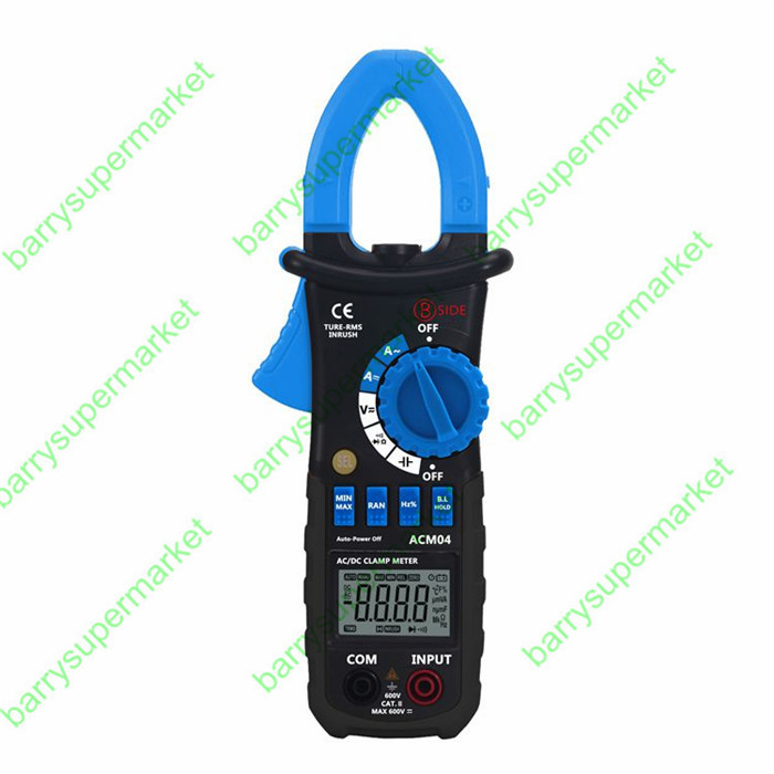New ACM04 True RMS Digital AC DC Current Voltage Clamp Meter Multimeter Capacitance Frequency Inrush Current Test vs MS2108 ad637 precision broadband ac true rms peak voltage detection module