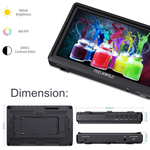 Image 2 - FEELWORLD FW568 5.5 inch  4K HDMI On Camera Field DSLR Monitor Small Full HD 1920x1080 IPS Video Focus + NP750 Battery + Charger