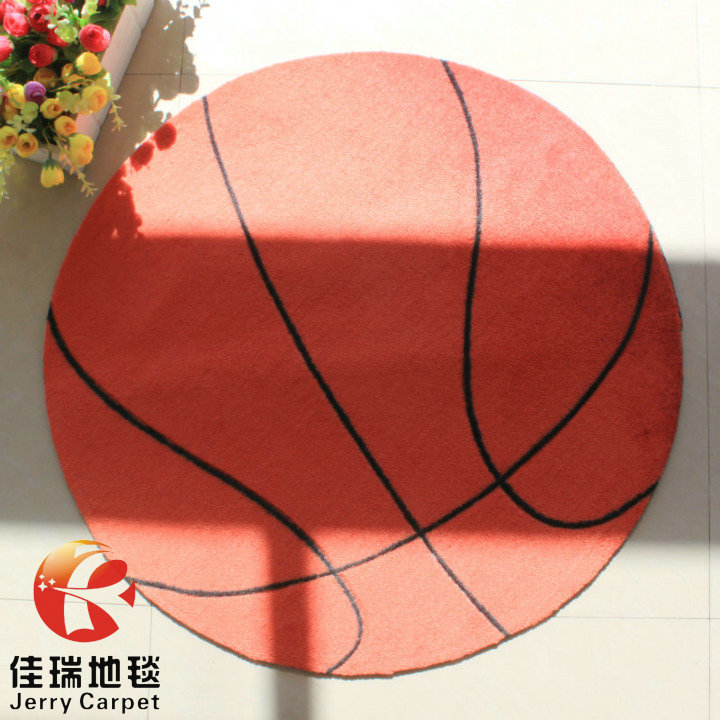 Designer Cartoon Basketball Kids Rug,Modern Soccer Bedroom Mat,Fashion  Round Carpets For Living Room
