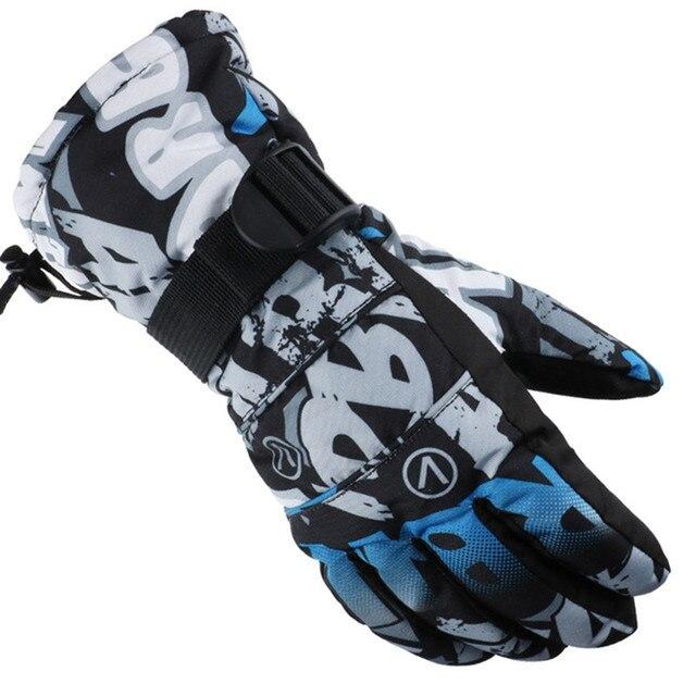 Открытый спортивные лыжные перчатки бренд Для мужчин лыжные Перчатки мужские сноуборд Перчатки мотоциклетные зимние ветрозащитные Водонепроницаемый зимние перчатки унисекс