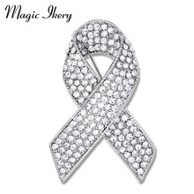 Magic Ikery Full Rhinestone Crystal Bow Tie Brooches Pin Jewelry For Women Clothing Accessories Christmas Gift JDD-B1022