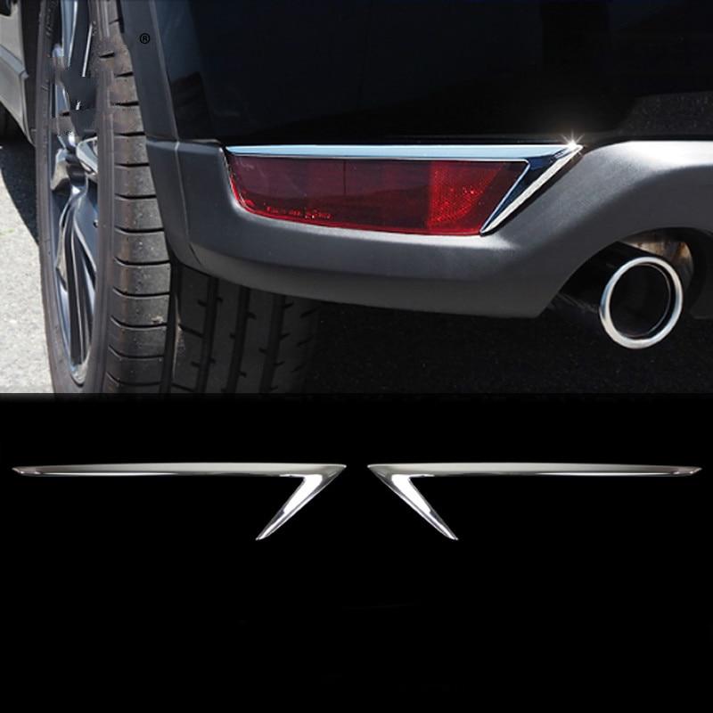 2pcs Fog Light Cover Chrome Rear Reflector Trim For 2012-2016 Mazda Cx-5 Cx5 ABS