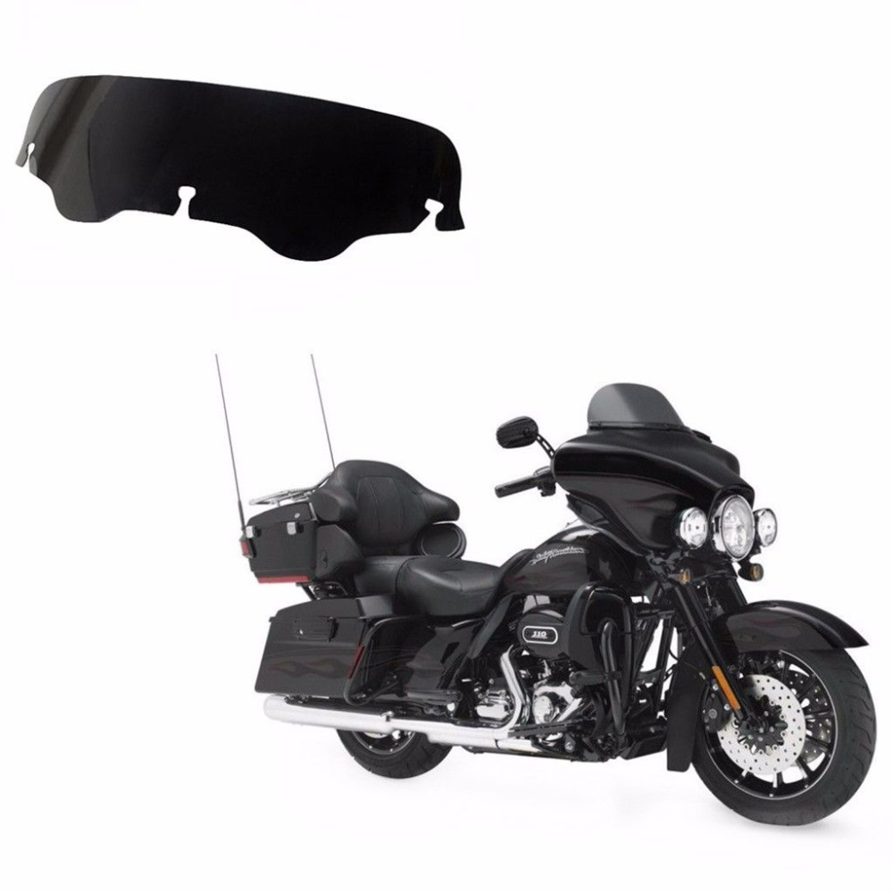 Freeshipping Motorcycle Smoke 4 Windshield Windscreen For Harley Electra Street Glide FLHX Touring Bike