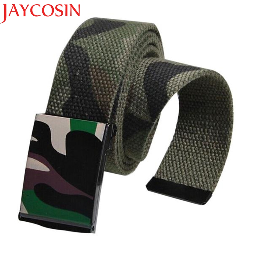 JAYCOSIN New Fashion 1pc Men Boy Army Camouflage Canvas Waist Belt Automatic Buckle Strap Drop Shipping