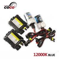 1Set 12000K Blue DC 12V 35W Xenon HID Kit Light Lamp Bulb H4 H4 2 H1