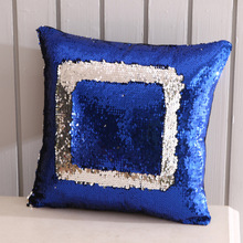 New Fashion DIY 16 Color Pillow Case Home Soft Pillowcase with Sequins Glitter Cover Solid Queen